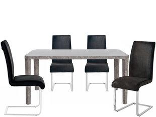 Комплект мебели для столовой Notio Living Armano 160/4 Manto, серый цена и информация | Комплекты мебели для столовой | 220.lv