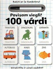 Pavisam viegli 100 vārdi cena un informācija | Pavisam viegli 100 vārdi | 220.lv