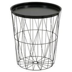Kafijas galdiņš Beistelltisch ar glabāšanas nodalījumu, melns cena un informācija | Dārza galdi | 220.lv