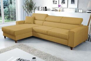 Stūra dīvāns Selsey Modran, dzeltens cena un informācija | Stūra dīvāni | 220.lv