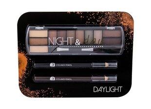 Kosmētikas komplekts 2K Night & Day: acu ēnas 8,16 g + acu kontūrzīmulis 0,6 g + acu kontūrzīmulis 0,6 g cena un informācija | Acu ēnas, skropstu tušas, zīmuļi, serumi | 220.lv