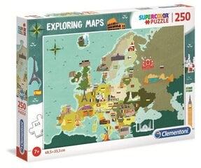 Puzle Clementoni Super Color 29062 Eiropas karte ar karodziņiem, 250 d. cena un informācija | Puzle Clementoni Super Color 29062 Eiropas karte ar karodziņiem, 250 d. | 220.lv