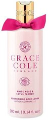 Ķermeņa losjons Grace Cole White Rose & Lotus Flower 300 ml cena un informācija   Ķermeņa krēmi, losjoni   220.lv