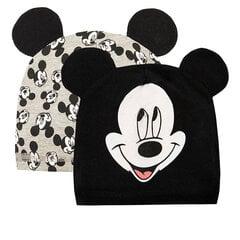 Cool Club cepure zēniem Pelēns Mikijs (Mickey Mouse), 2 gab., LAB2007860-00 cena un informācija | Zīdaiņu cepures, šalles | 220.lv