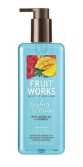 Šķidrās roku ziepes Grace Cole Fruit Works Raspberry & Mango 500 ml