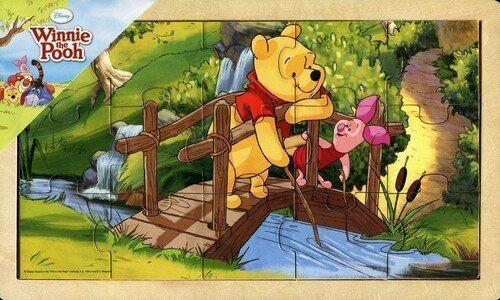 Koka puzle PlayMe Vinnijs Pūks (Winnie The Poof), 15 d.