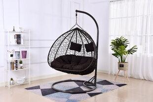 Piekarināms divvietīgs krēsls NORE Cancun, brūns cena un informācija | Piekarināms divvietīgs krēsls NORE Cancun, brūns | 220.lv