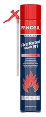 PENOSIL tūbiņu ugunsizturīgas blīvējošās putas Premium Fire Rated, 750 ml cena un informācija | PENOSIL tūbiņu ugunsizturīgas blīvējošās putas Premium Fire Rated, 750 ml | 220.lv