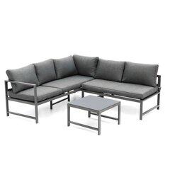 Комплект уличной мебели из 3 частей 4living Cancun, серый цена и информация | Комплект уличной мебели из 3 частей 4living Cancun, серый | 220.lv