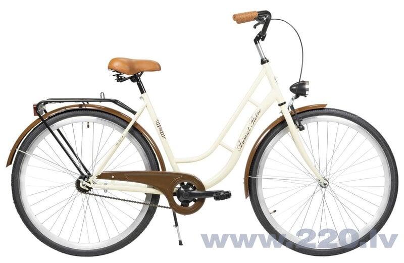 """Sieviešu pilsētas velosipēds Azimut Retro 28"""" 2020, krēmkrāsas/brūns"""