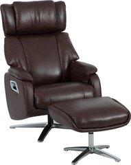 Krēsls ar pufu Dr Max by ARIMAX DM02009, brūns cena un informācija | Krēsli viesistabai | 220.lv