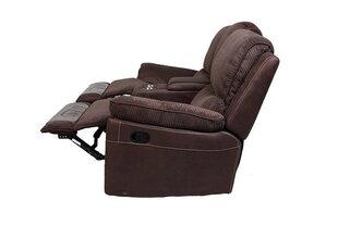 Divvietīgs dīvāns reglaineris Brooks, brūns cena un informācija | Dīvāni | 220.lv