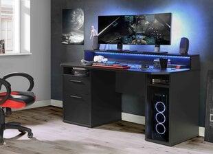 Datorspēļu galds Forte Tezaur B213B3, melns cena un informācija | Datorgaldi, rakstāmgaldi | 220.lv