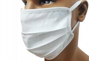 Многоразовая маска для лица 3-слойная, белая цена и информация | Многоразовая маска для лица 3-слойная, белая | 220.lv