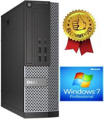 Dell 7020 SFF i5-4670 8GB 480GB SSD 2TB HDD DVDRW Windows 7 Pro Dators cena un informācija | Stacionārie datori | 220.lv