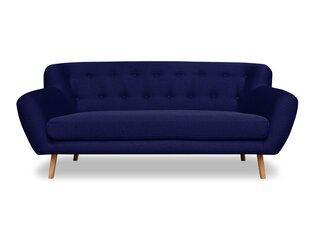 Dīvāns Cosmopolitan Design London 3S, zils cena un informācija | Dīvāni | 220.lv