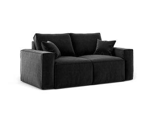 Dīvāns Cosmopolitan Design Florida 2S, melns cena un informācija | Dīvāni | 220.lv