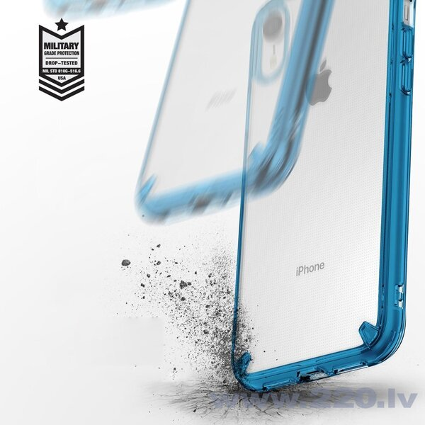 Ringke Fusion Matte PC Case with TPU Bumper for iPhone XR transparent cena