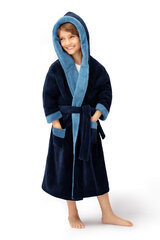 Zēnu halāts ENVIE Delfino (Tumši zilā, zilā krāsā) cena un informācija | Zēnu pidžamas, halāti | 220.lv