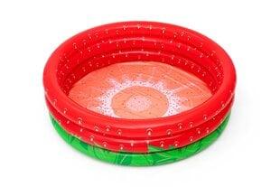 Piepūšamais bērnu baseins Bestway Sweet Strawberry, 160x38 cm, sarkans cena un informācija | Āra baseini | 220.lv