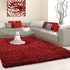 NORE Shaggy paklājs Red, 200x290 cm cena un informācija | Paklāji | 220.lv