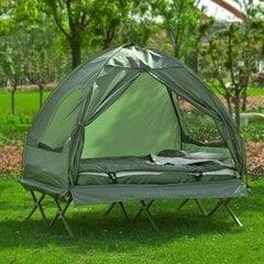 Āra gulta/telts SoBuy OGS32-L-GR, zaļa cena un informācija | Sauļošanās krēsli | 220.lv