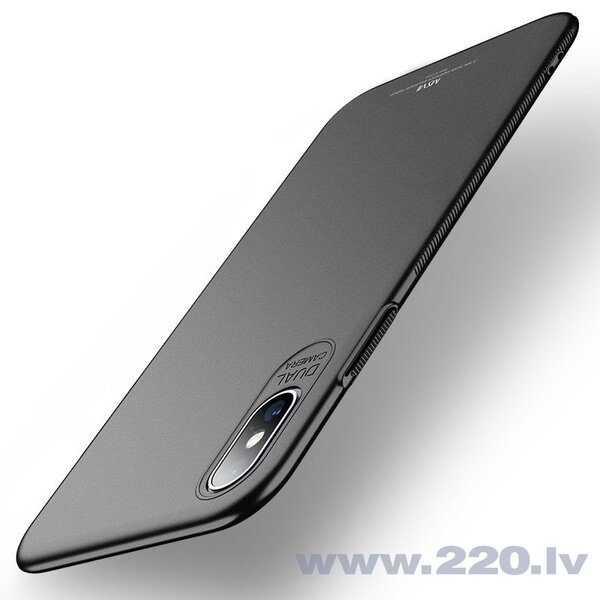 MSVII Simple Ultra-Thin Cover PC Case for iPhone XS Max black (Black) cena un informācija | Maciņi, somiņas | 220.lv