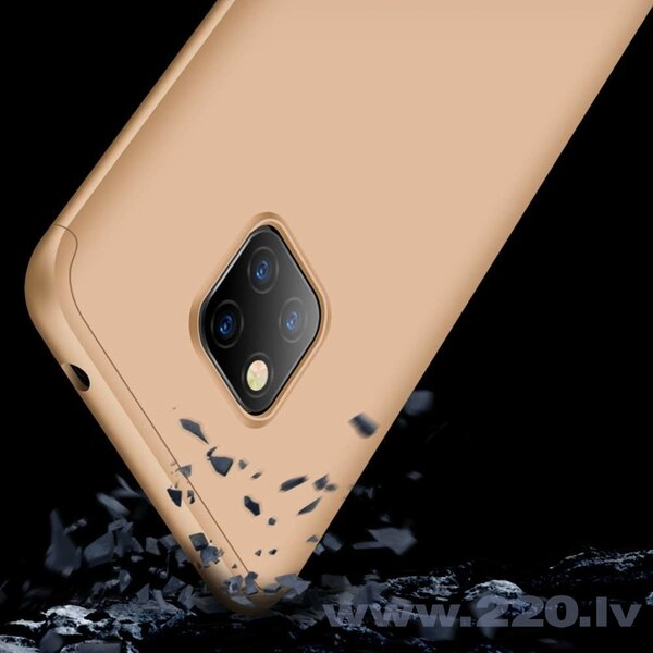 GKK 360 Protection Case Front and Back Case Full Body Cover Huawei Mate 20 Pro golden (Gold) internetā