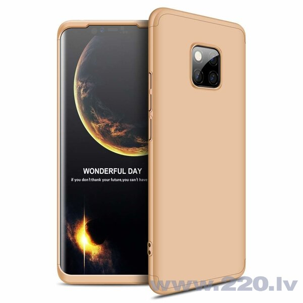 GKK 360 Protection Case Front and Back Case Full Body Cover Huawei Mate 20 Pro golden (Gold)