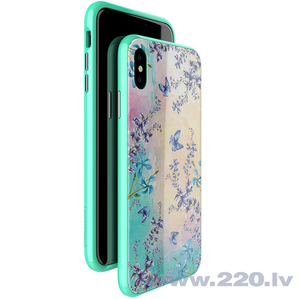 Nillkin Blossom Case Full Body Front and Back Cover for iPhone XS Max green cena