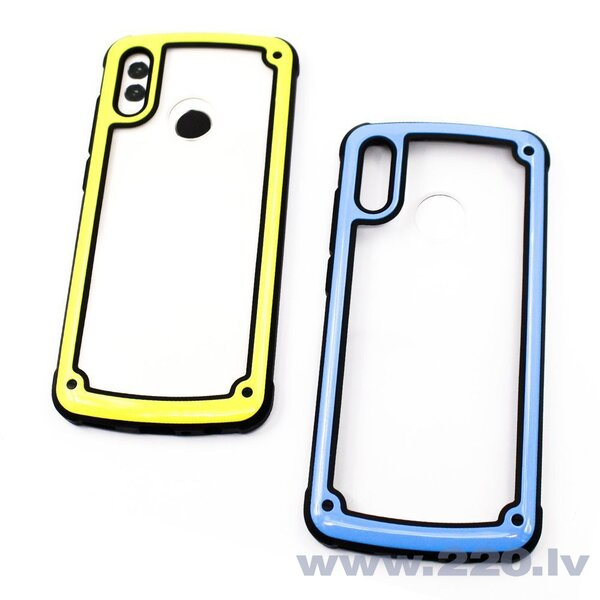 Solid Frame PC Case with TPU Bumper for Samsung Galaxy S9 Plus G965 yellow (Yellow)