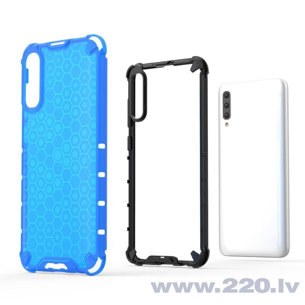 Honeycomb Case armor cover with TPU Bumper for Samsung Galaxy A70 blue (Blue) atsauksme
