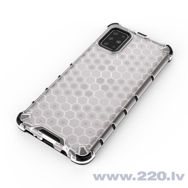 Honeycomb Case armor cover with TPU Bumper for Samsung Galaxy S20 Plus transparent