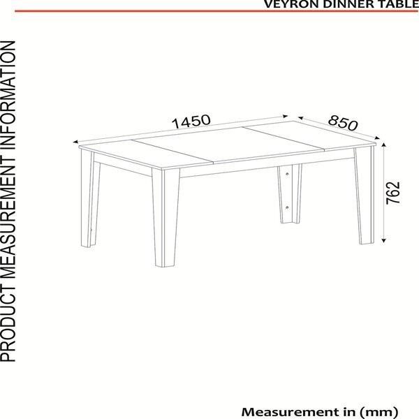 Ēdamistabas galds Kalune Design Veyron, melns/zelta internetā