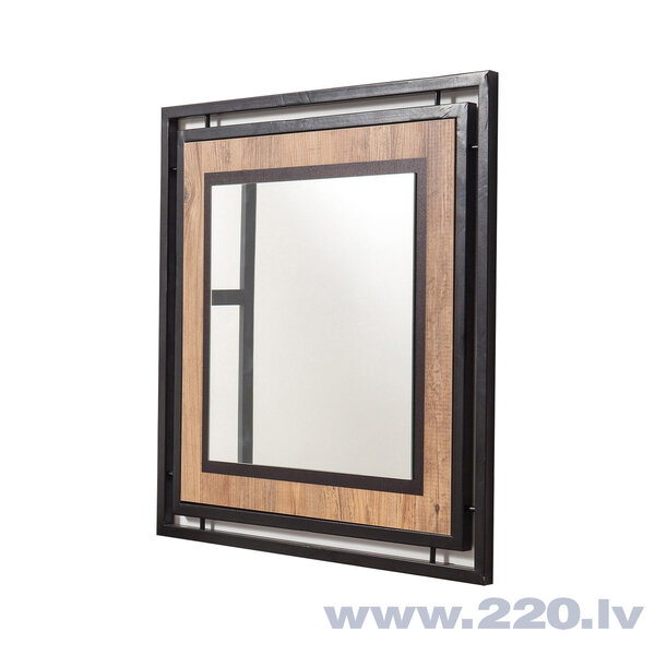 Spogulis Kalune Design Cosmo Mirora 70, brūns/melns