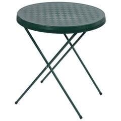Saliekams tūristu galds Patio 59 cm, zaļš cena un informācija | Dārza galdi | 220.lv