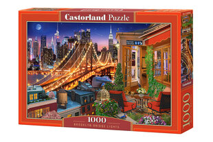 CASTORLAND puzle BROOKLYN BRIDGE LIGHTS, 1000 det. cena un informācija | Puzles, 3D puzles | 220.lv