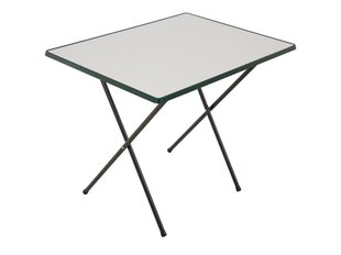 Saliekams tūristu galdiņš Patio Sevelit, balts/zaļš cena un informācija | Dārza galdi | 220.lv