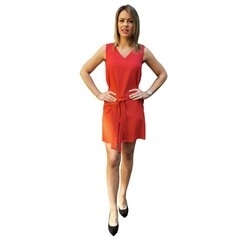 RAŽOTS LATVIJĀ Sarkana kleita ar sasienamu jostu cena un informācija | Kleitas | 220.lv