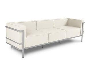 Trīsvietīgs āra dīvāns Calme Jardin Cannes krēmkrāsas/gaiši pelēks cena un informācija | Dārza krēsli | 220.lv