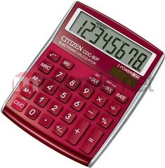 Kalkulators Citizen, CDC80RDRED cena un informācija | Kalkulators Citizen, CDC80RDRED | 220.lv