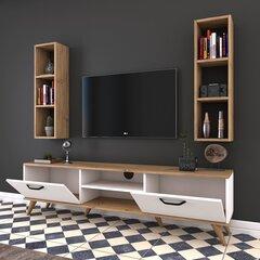 Sekcija Kalune Design M6, balta/gaiši brūna/melna cena un informācija | Sekcijas | 220.lv