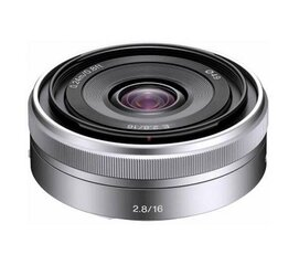 Sony E 16mm F2.8 (Silver) | (SEL16F28) cena un informācija | Objektīvi | 220.lv