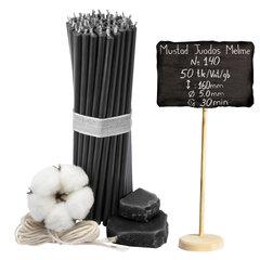 "Melnās vaska sveces ""Diveevo"" 50 gab. 16cm cena un informācija | Melnās vaska sveces ""Diveevo"" 50 gab. 16cm | 220.lv"