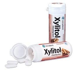 Košļājamā gumija Miradent Xylitol, kanēļa garša cena un informācija | Košļājamā gumija Miradent Xylitol, kanēļa garša | 220.lv