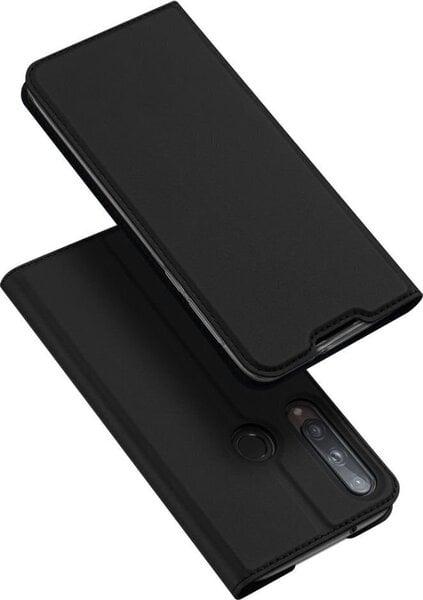 Dux Ducis Premium Magnet Case piemērots Huawei P40 Lite E, Melns cena un informācija | Maciņi, somiņas | 220.lv