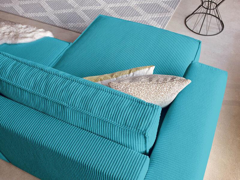 Universāls stūra dīvāns BoboChic Nihad, zils
