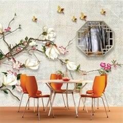 Fototapetes - Magnolijas un zelta putni cena un informācija | Fototapetes | 220.lv