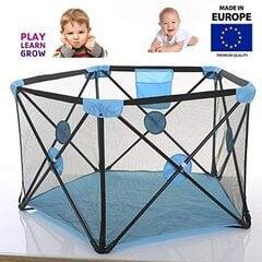 Tavalax Bērnu Sētiņa/Manēža ar matraci, zils cena un informācija | Tavalax Bērnu Sētiņa/Manēža ar matraci, zils | 220.lv