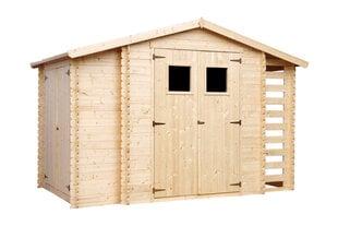 Koka dārza mājiņa / instrumentu novietne Timbela M389 cena un informācija | Mājiņas/novietnes malkai un instrumentiem | 220.lv